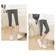 Maternity Legging - Side 2 Line Dark Grey