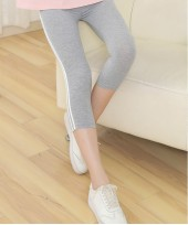 Maternity Legging - Side 2 Line Light Grey