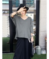 Maternity Tops - V Dark Grey