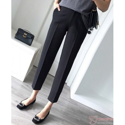 Maternity Pants - Long Smooth Working Black