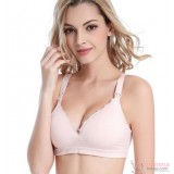 Nursing Bra - Seamless Lace Light Pink