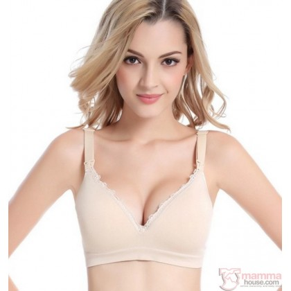 Nursing Bra - Seamless Lace Light Skin