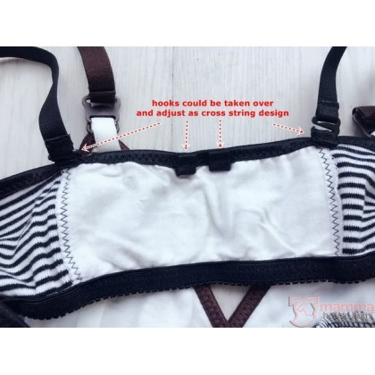 Nursing Bra - JP Stripe Brown or Black