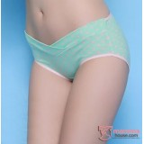 Maternity Panties - Low Waist Green Polka
