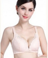 X Nursing Bra - Lace Button Skin