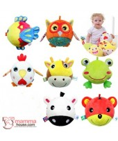 Baby Rattle - Ball Animals