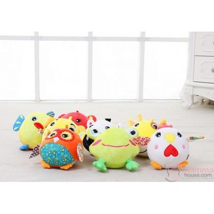 Baby Rattle - Ball Animals