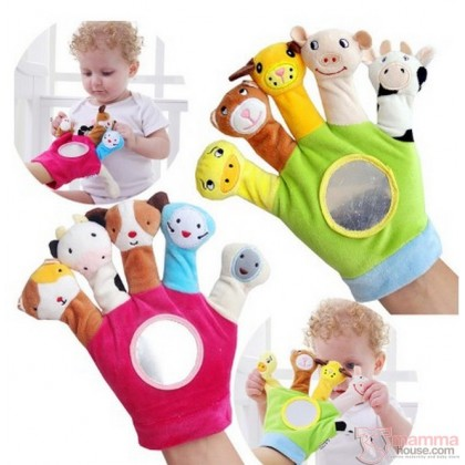 Finger Hand Glove - Baby Animals (2 design)