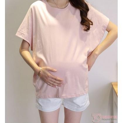 Maternity Shorts - White Shorts Fold