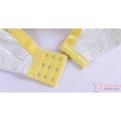 X Nursing Bra - Button Padded Beige