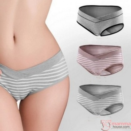 Maternity Panties - Low Waist Cotton Grey (cotton)