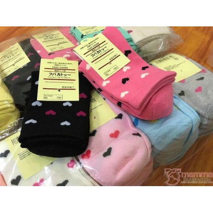 Confinement Sock - Heart Cotton