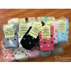 Confinement Sock - Heart Cotton