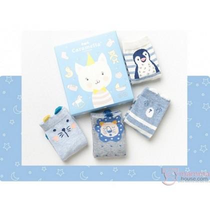 Baby Socks - Cara Box Blue (4 pairs)
