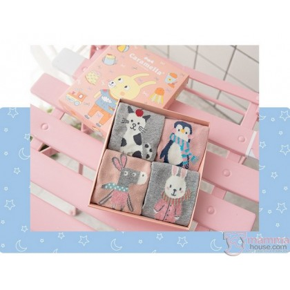 Baby Socks - Cara Box Pink (4 pairs)