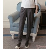 Maternity Pants - Long Working Knitted Lantern Grey