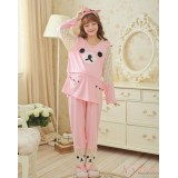 Mamma Pajamas - Long Lovely Bear Pink