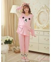 Mamma Pajamas - Long Lovely Bear Pink