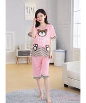 Mamma Pajamas - Short Pink Bear Winnie