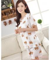 Mamma Pajamas - Short White Bear