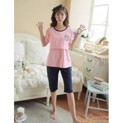 Mamma Pajamas - Short Badge Pink
