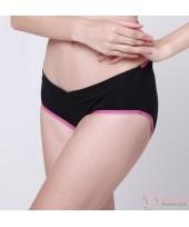 Maternity Panties - V Line Pink Dark Blue