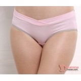 Maternity Panties - V Line Grey Pink