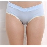 Maternity Panties - V Line Yellow Blue