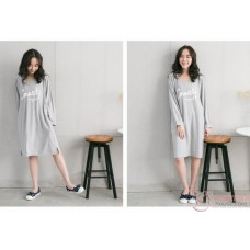 Nursing Dress - Connect Long Grey (plus baby romper or jumpsuit)