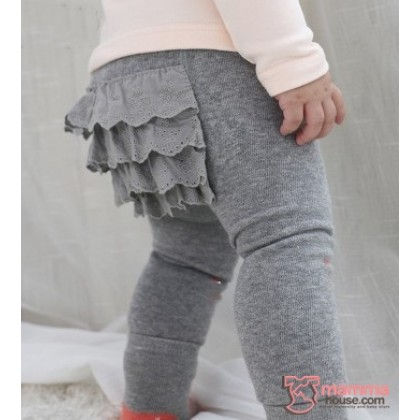 Baby Hose - Korean Hips Flora (2pcs Set) Grey