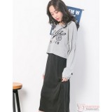 Nursing Dress - 2pcs Ucla Grey Long