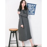 Nursing Dress - Hat Long Grey