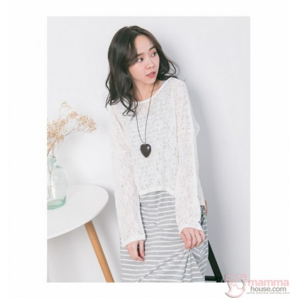 Nursing Dress - 2pcs Lace Grey LONG