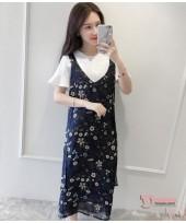 Nursing Dress - 2pcs Chiffon Flora