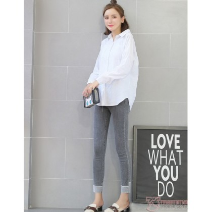 Maternity Jeans - Slim 9 Grey FOLD