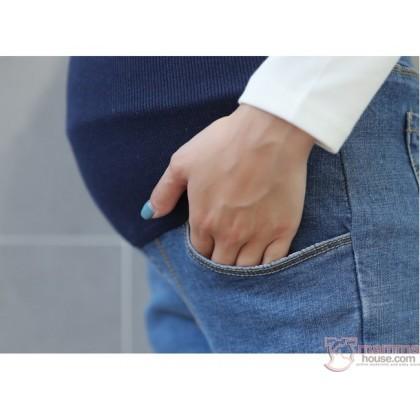 Maternity Jeans - Slim 9 Blue FOLD