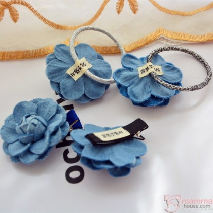 Baby Hair Clip or Band - Rose