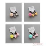 Baby Hair Band - Ribbon & Ball (4 colors//set)