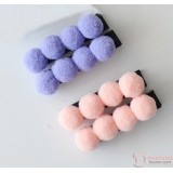 Baby Hair Clip - ball pink or purple (2pcs set)