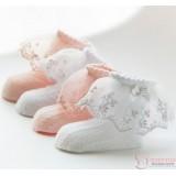 Baby Socks - Korean Elegant Lace (pink or white)