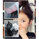 Baby Hair Clip - Ribbon Lace (2 colors/pc)