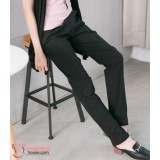 Maternity Long Pants - Working Slim Straight Black