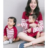 Nursing Set - V Neck Long Maroon (plus baby romper)
