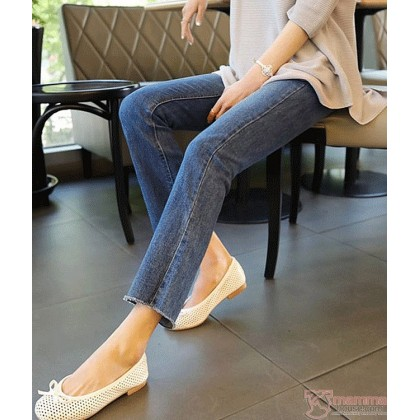 Maternity Jeans - Straight Slim Blue