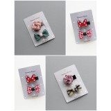 Baby Hair Clip - Rose Ribbon Design (2pcs set)
