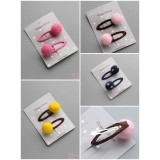 Baby Hair Clip - Ball Clips (4 colors/ 2pc set)