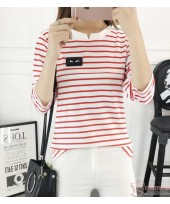Nursing Tops - Chief Long Stripe Red