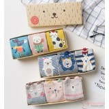 Baby Socks - Box Cute Animals  (3 pairs set)