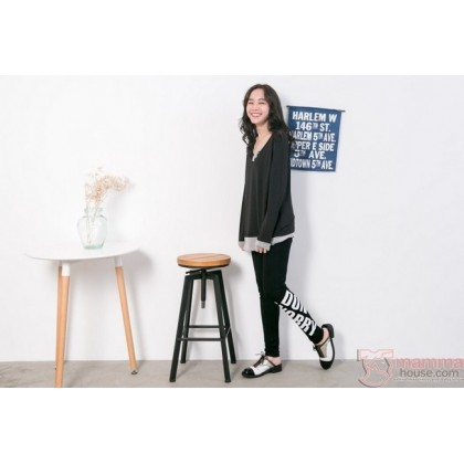 Maternity Legging - Long Letter Black or Dark Grey