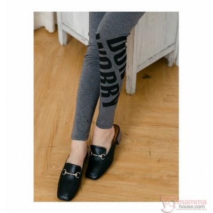 Long Legging - Long Letter Black or Dark Grey